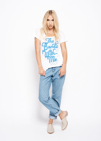 The Band's With Me Halter Tank - Bright White