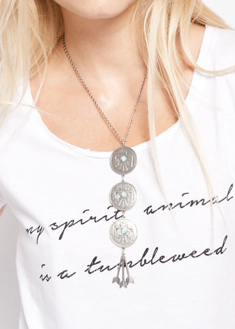 Cher's Turquoise Necklace - Howlite Turquoise - Accessories - Midnight Rider