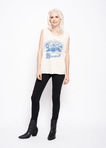 The Band Portrait Muscle Tee - Dirty White