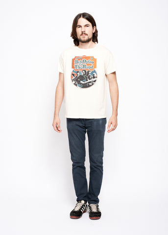 Bob Dylan and The Band Ticket Stub Unisex Crew - Dirty White - Men's Tee Shirt - Midnight Rider