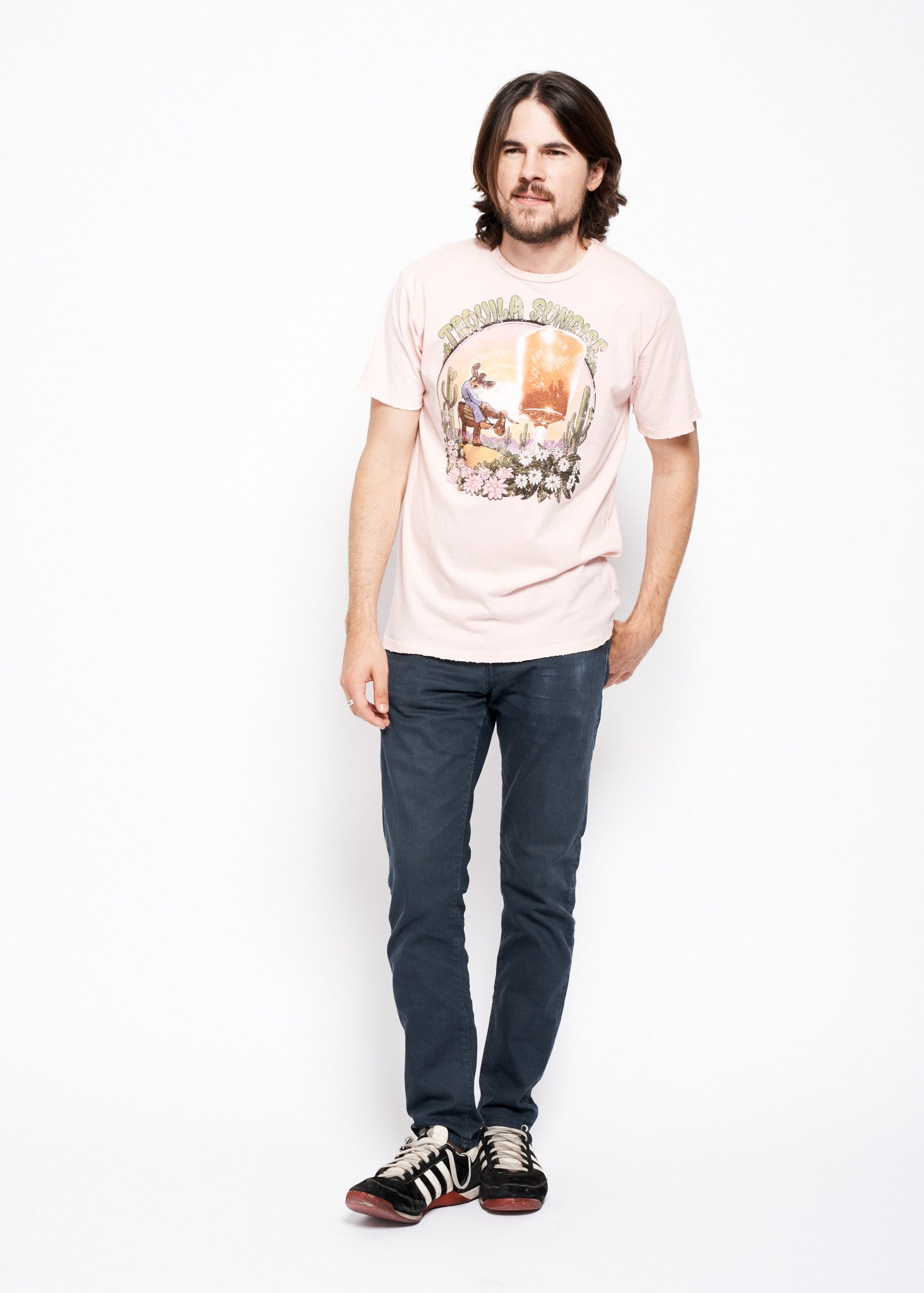Tequila Sunrise Men's Crew - Rose Quartz