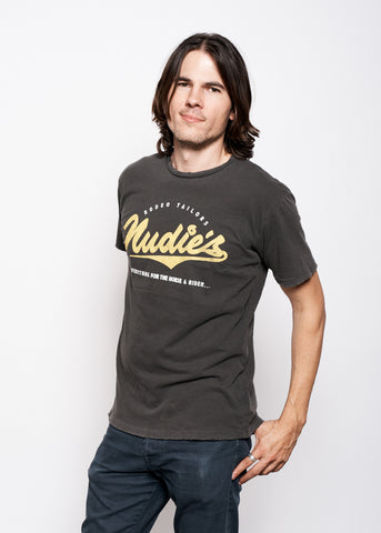 Nudie Horse and Rider Men's Crew - Vintage Black