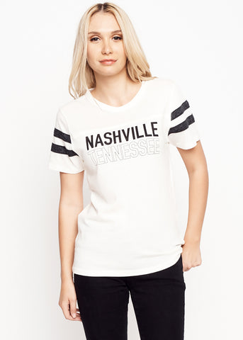 Nashville Tennessee Unisex Football Tee - Women's Tee Shirt - Midnight Rider