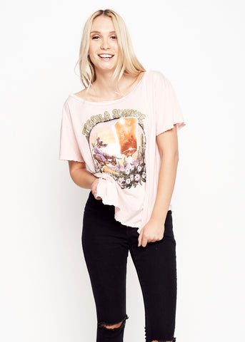 Tequila Sunrise Boyfriend Tee - Rose Quartz