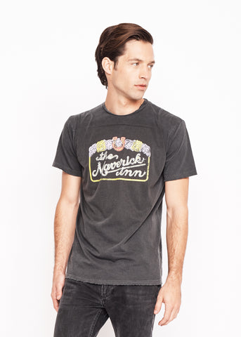 Midnight Rider Muscle Car Men's Crew - Vintage Black