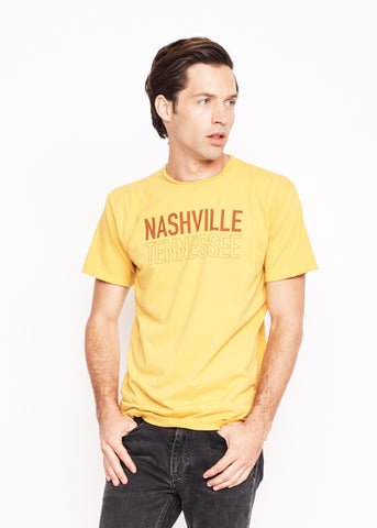 Nashville Tennessee Men's Crew - Mustard - Men's Tee Shirt - Midnight Rider