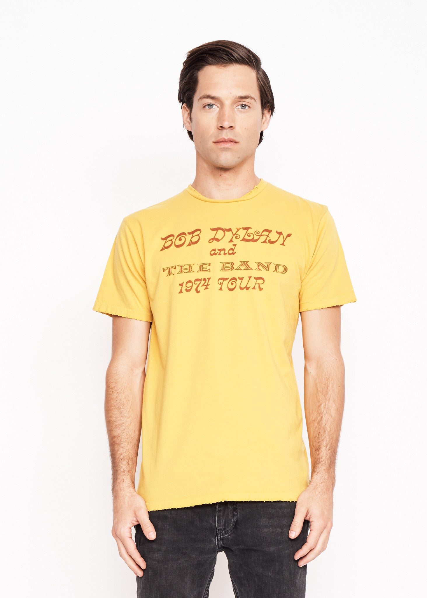 Bob Dylan and The Band Showbill Men's Crew - Mustard