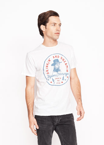 Drinkin' and Dreamin' Men's Crew - Bright White - Men's Tee Shirt - Midnight Rider