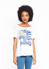 Hard Luck and Good Times Boyfriend Tee - Bright White