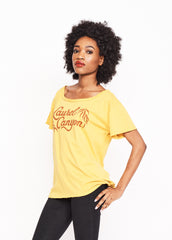 Laurel Canyon Boyfriend Tee - Mustard