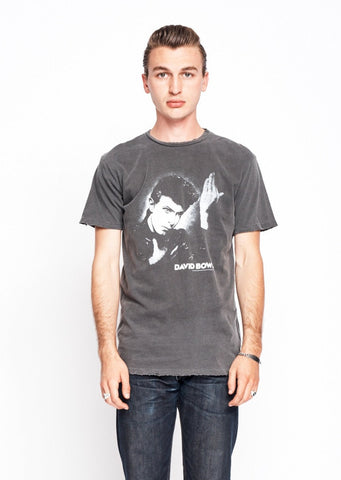 David Bowie Heroes Men's Crew - Men's Tee Shirt - Midnight Rider