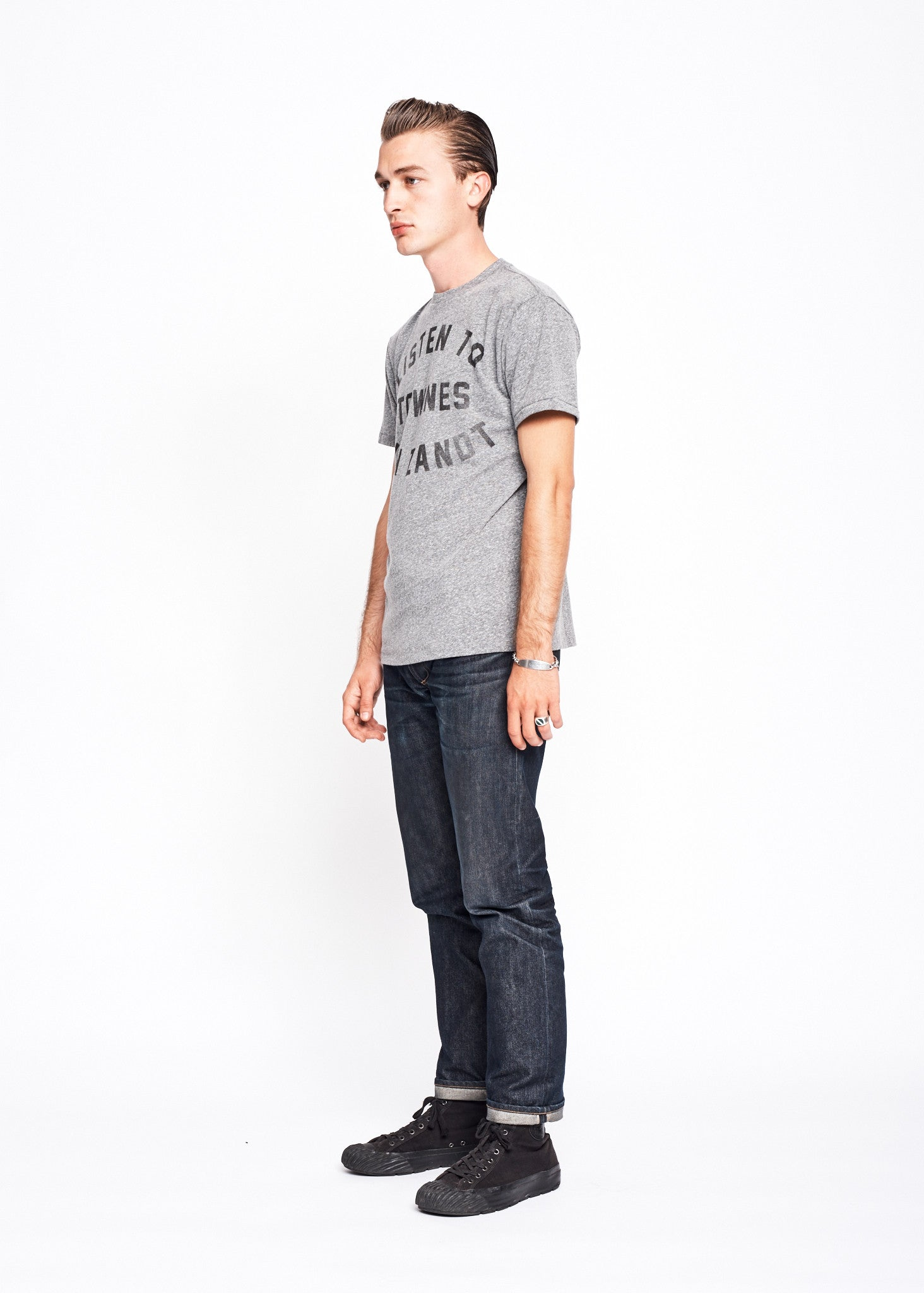 Listen to Townes Van Zandt Men's Crew - Heather Grey