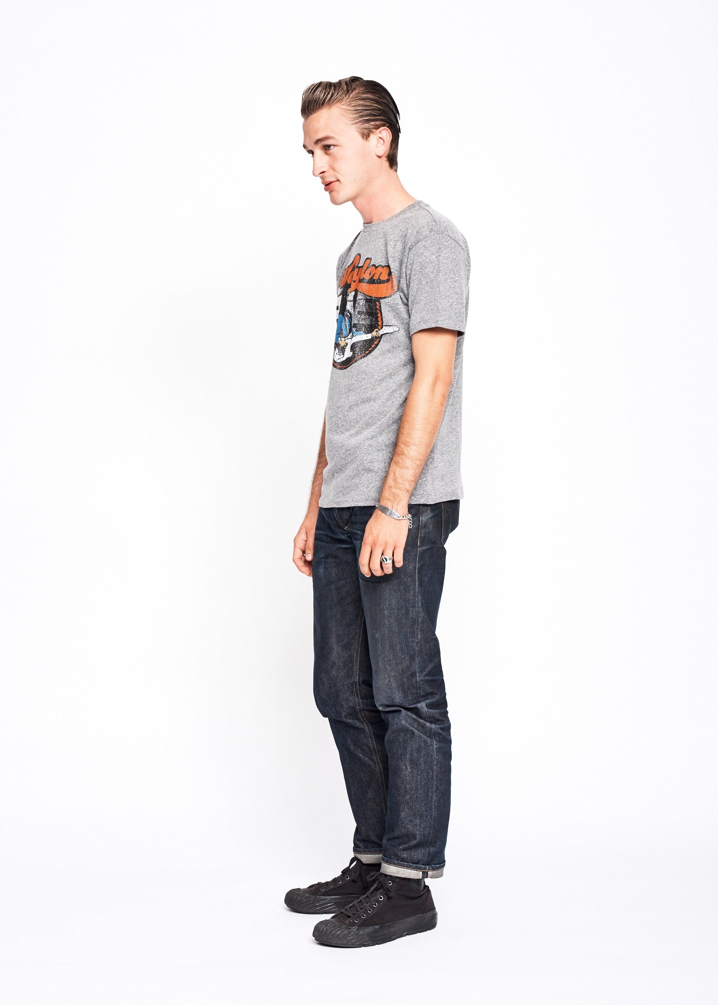 Flying W Guitar Men's Crew - Heather Grey