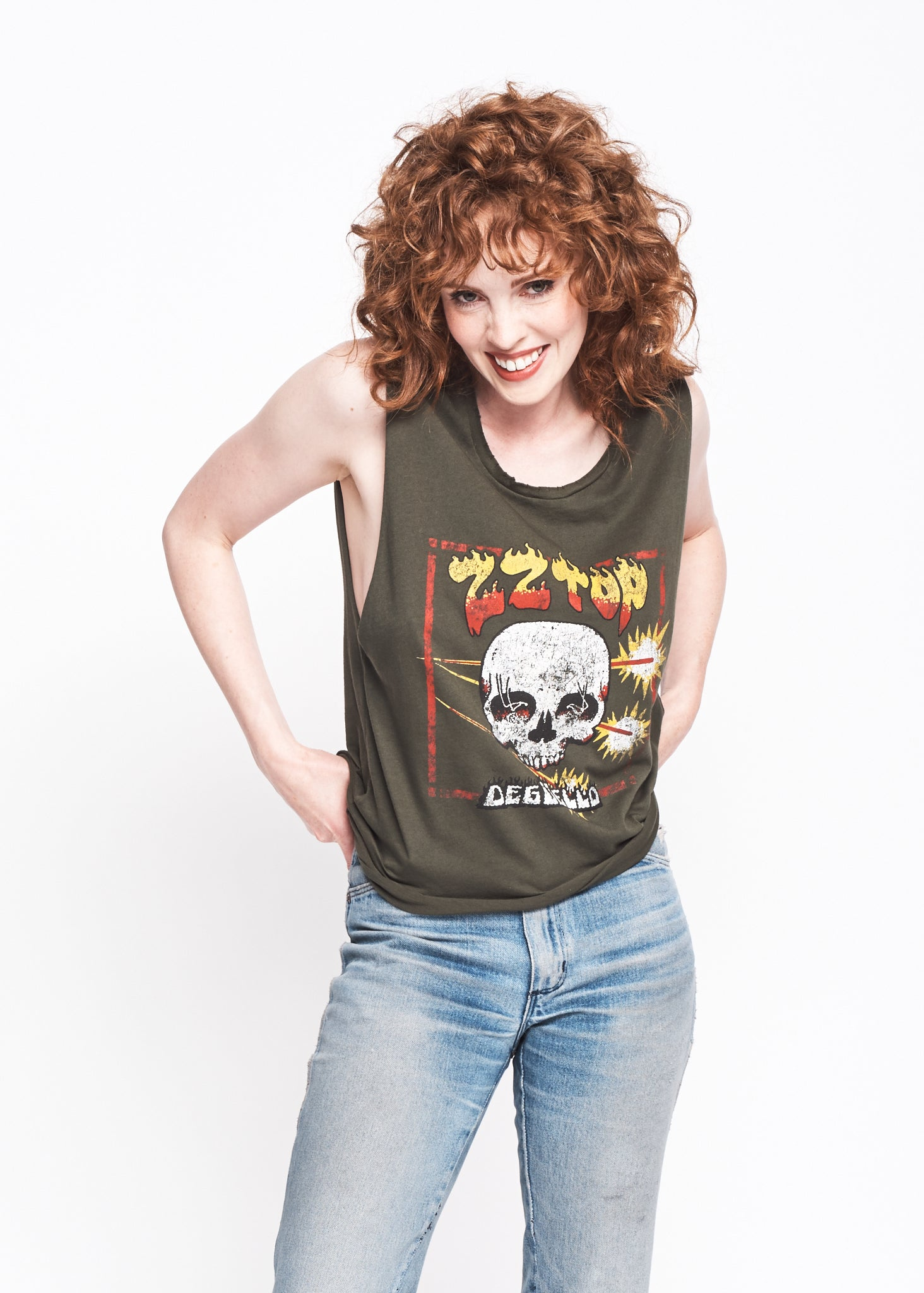 ZZ Top Deguello Muscle Tee - Black Forest - Women's Muscle Tee - Midnight Rider