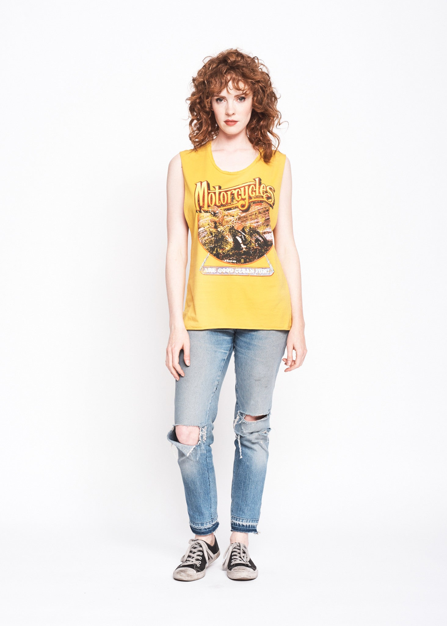 Good Clean Fun Muscle Tee - Mustard