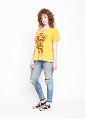 The Band's With Me Boyfriend Tee - Mustard