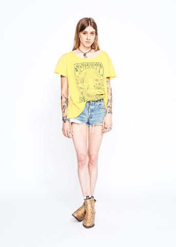 Sisterhood is Blooming Boyfriend Tee - Primrose Yellow