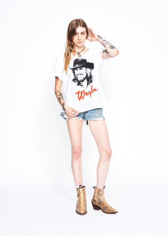 Waylon Portrait Boyfriend Tee - Bright White