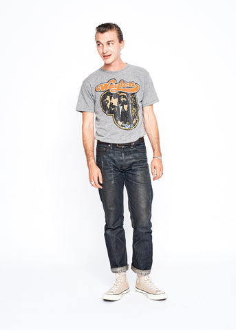 Waylon Collage Men's Crew - Heather Grey - Men's Tee Shirt - Midnight Rider