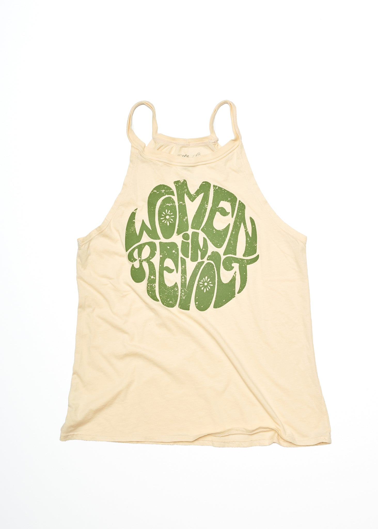 Women in Revolt Halter Tank - Summer Melon - Women's Tee Shirt - Midnight Rider