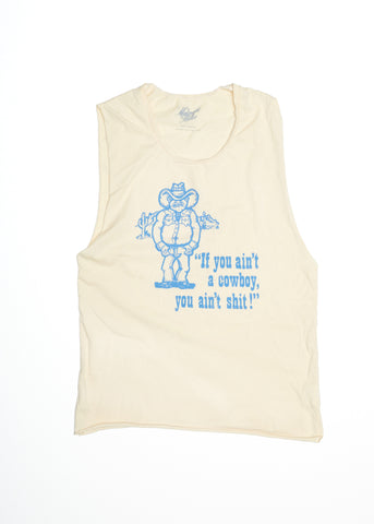 If You Ain't A Cowboy Muscle Tee - Summer Melon