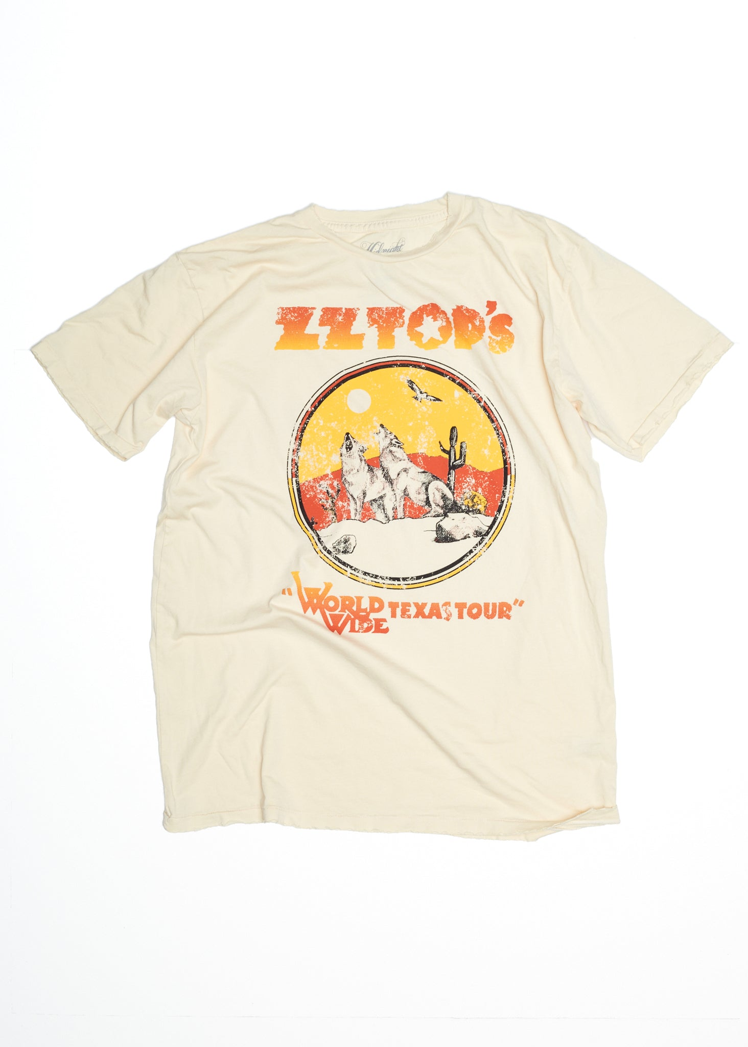 ZZ Top WorldWide Texas Tour Men's Crew - Summer Melon