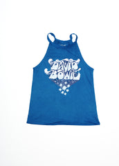 David Bowie Bubble Letter Halter Tank - Women's Muscle Tee - Midnight Rider
