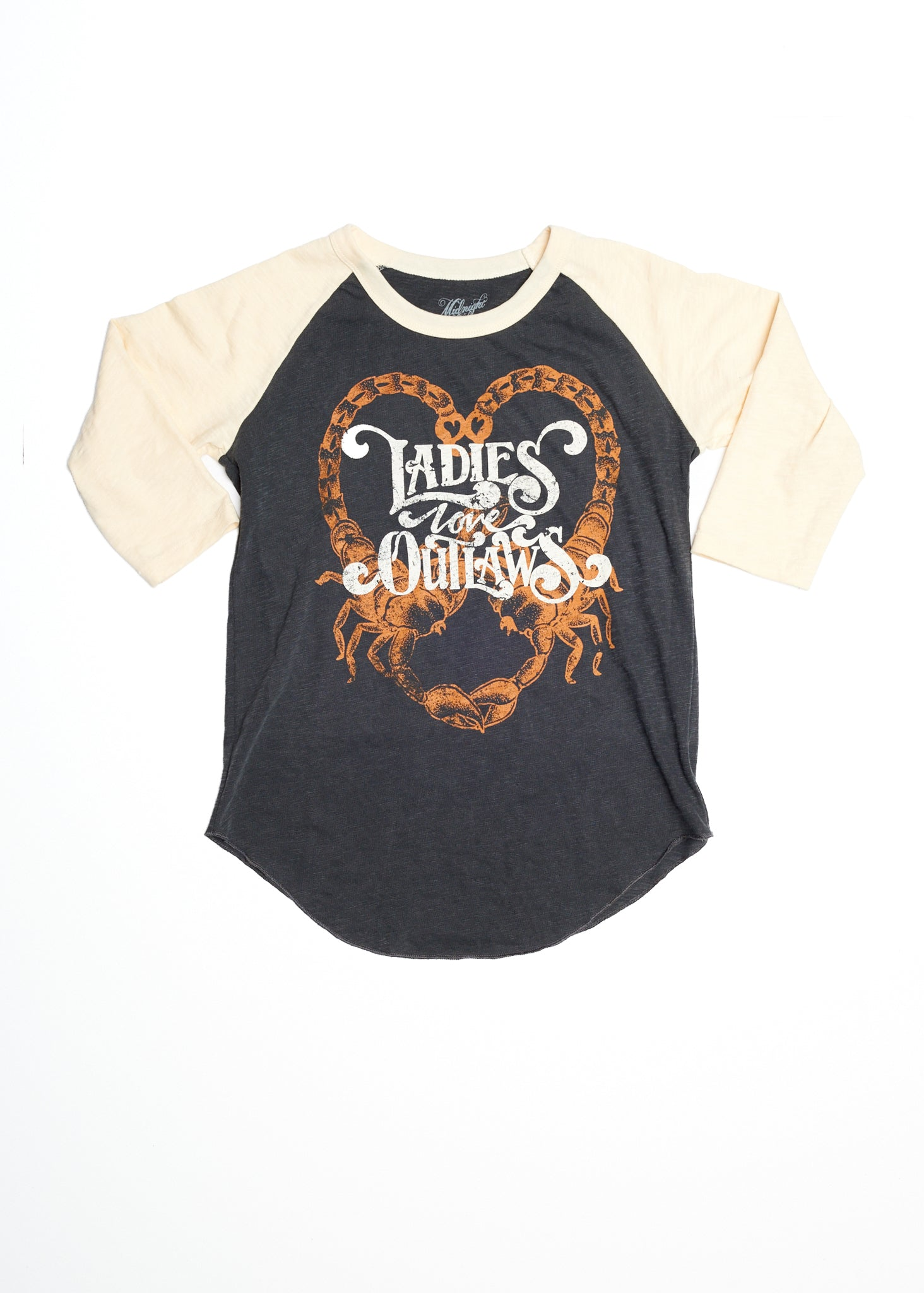 Ladies Love Outlaws Baseball Tee - Baseball Tee - Midnight Rider