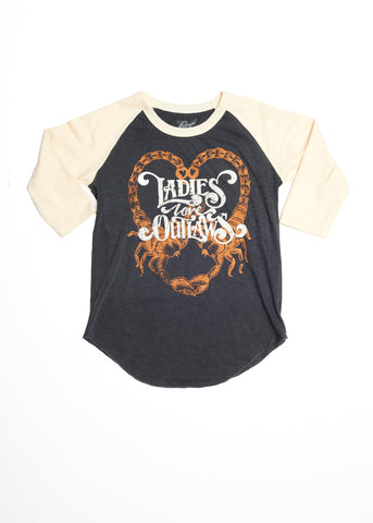 Ladies Love Outlaws Baseball Tee