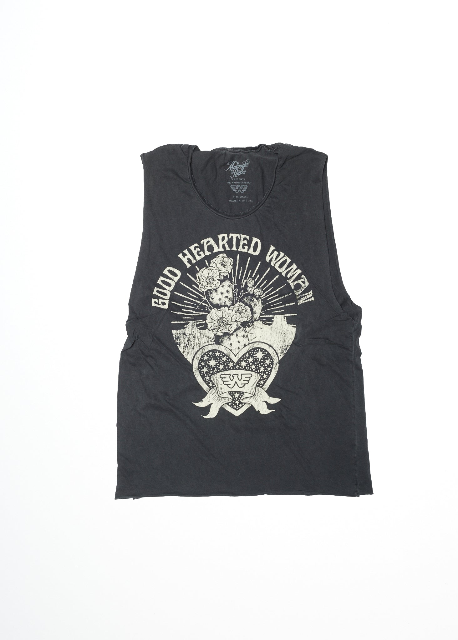 Good Hearted Woman - Vintage Black Muscle Tee - Women's Muscle Tee - Midnight Rider