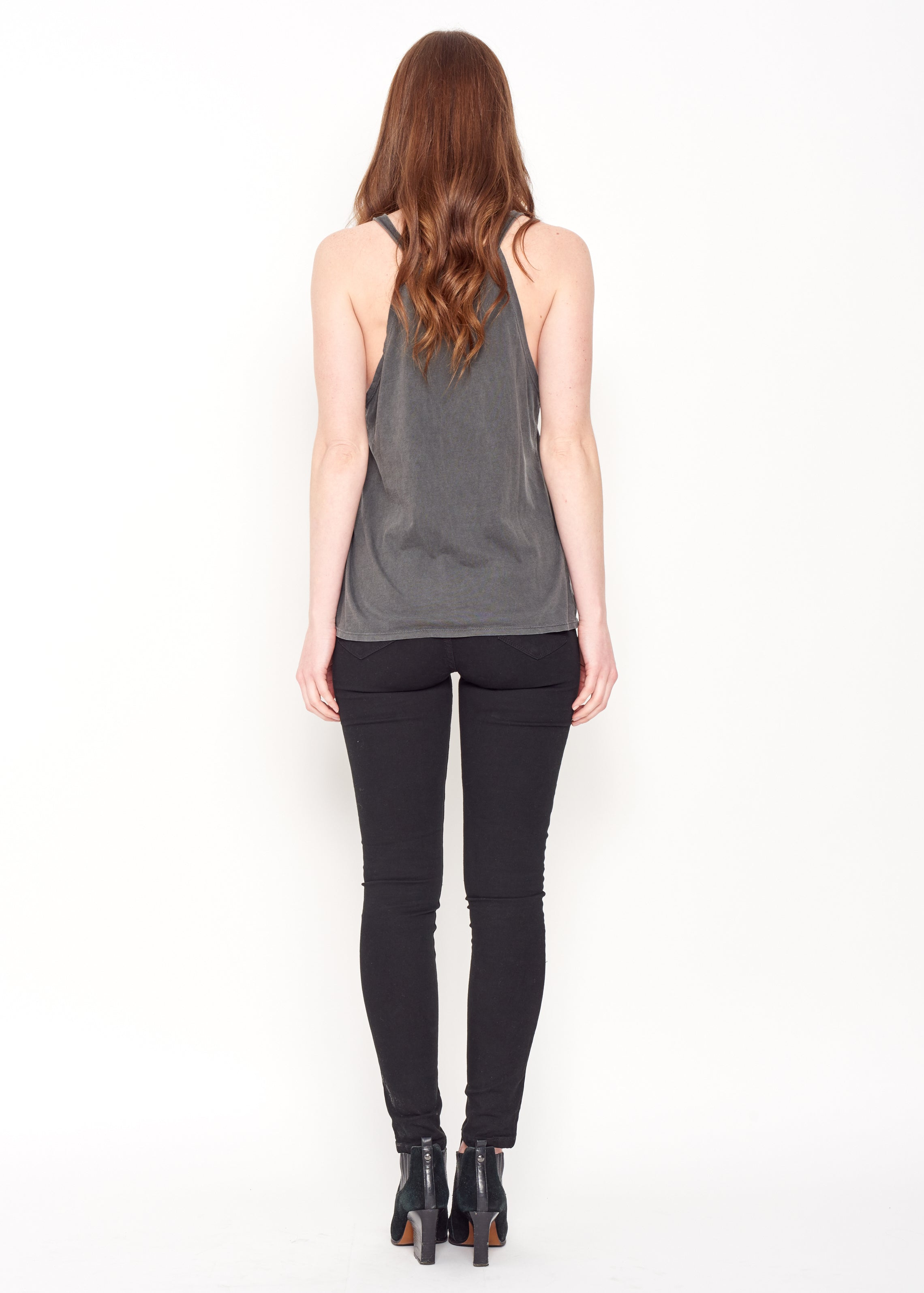 Women in Revolt Halter Tank - Vintage Black