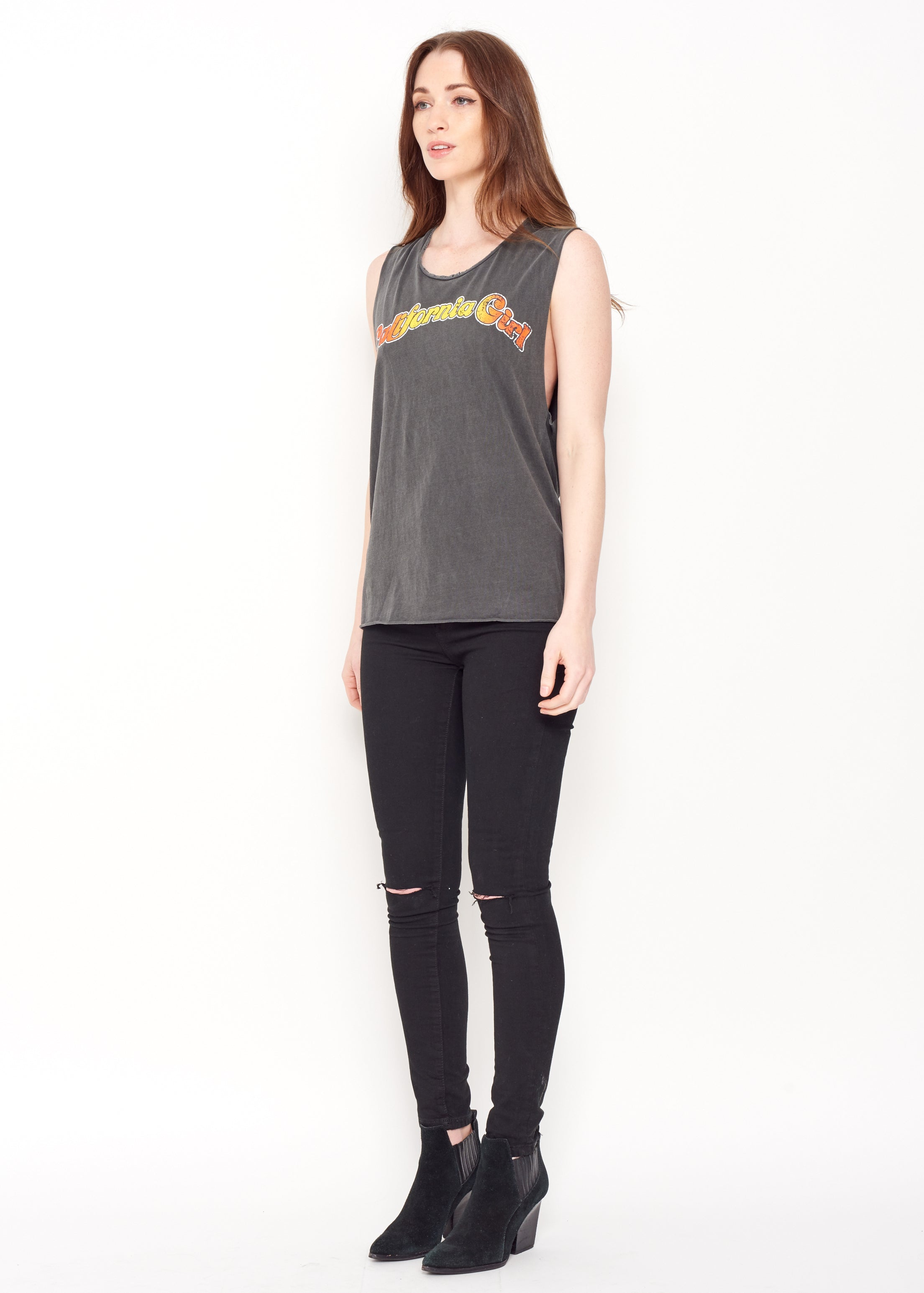 California Girl Muscle Tee - Women's Muscle Tee - Midnight Rider