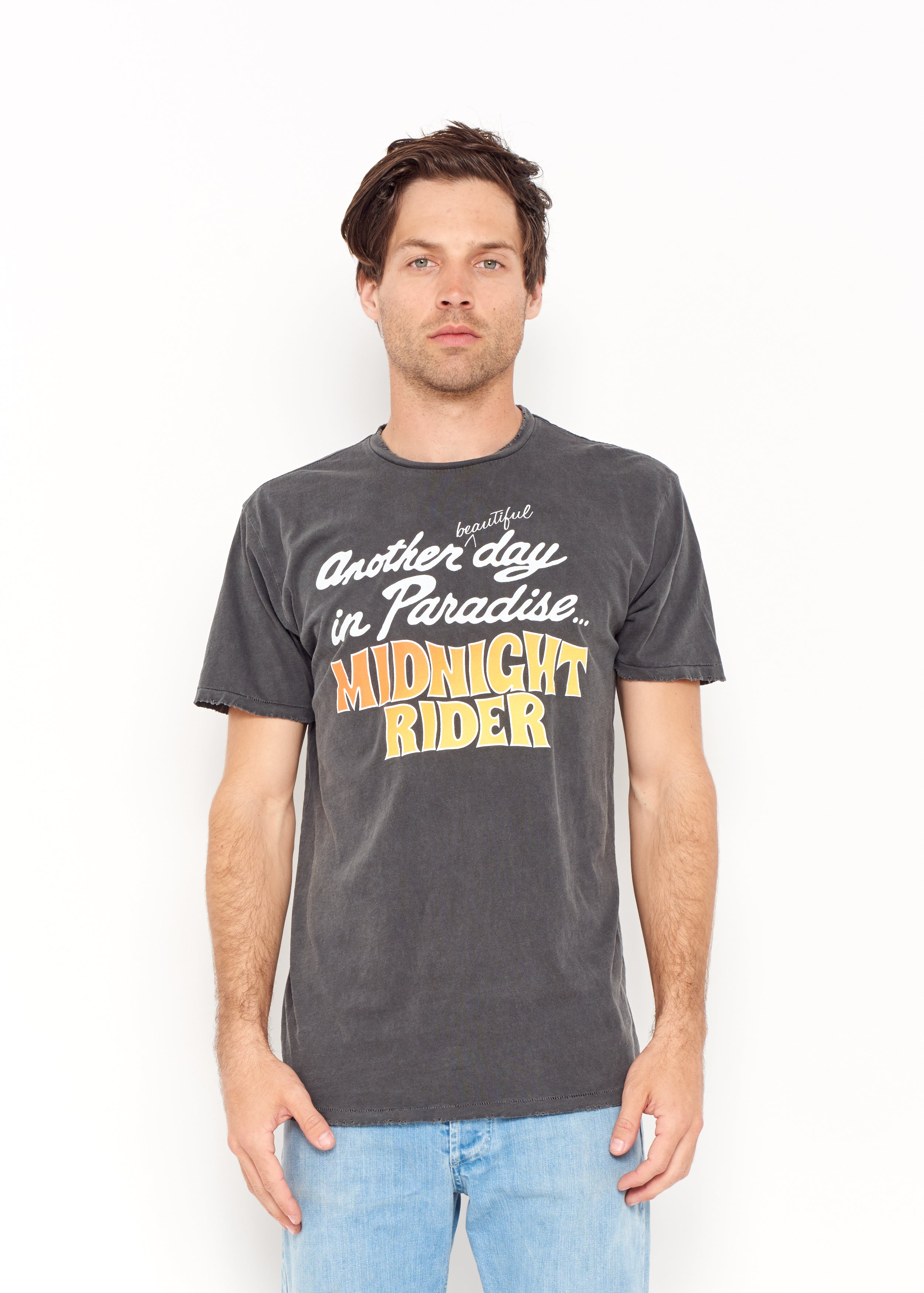 Another Day in Paradise Men's Crew - Vintage Black - Men's Tee Shirt - Midnight Rider