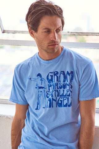 Gram Parson's Nudie Suit Men's Crew - Men's Tee Shirt - Midnight Rider