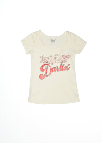 You Don't Have to Call Me Darlin, Darlin' Ballet Tee - Coconut