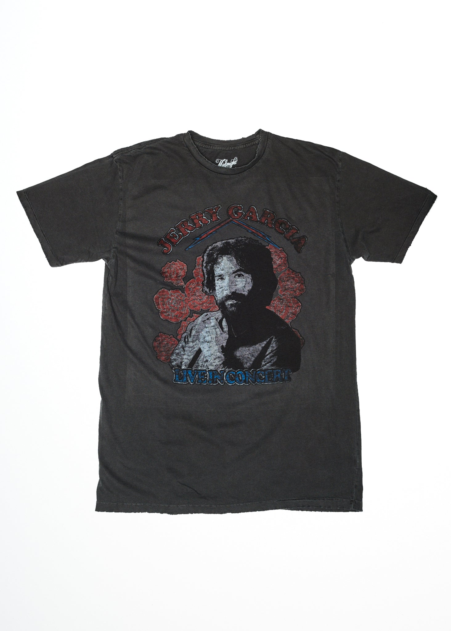 Jerry Garcia Live in Concert Men's T-Shirt - Vintage Black - Men's Tee Shirt - Midnight Rider