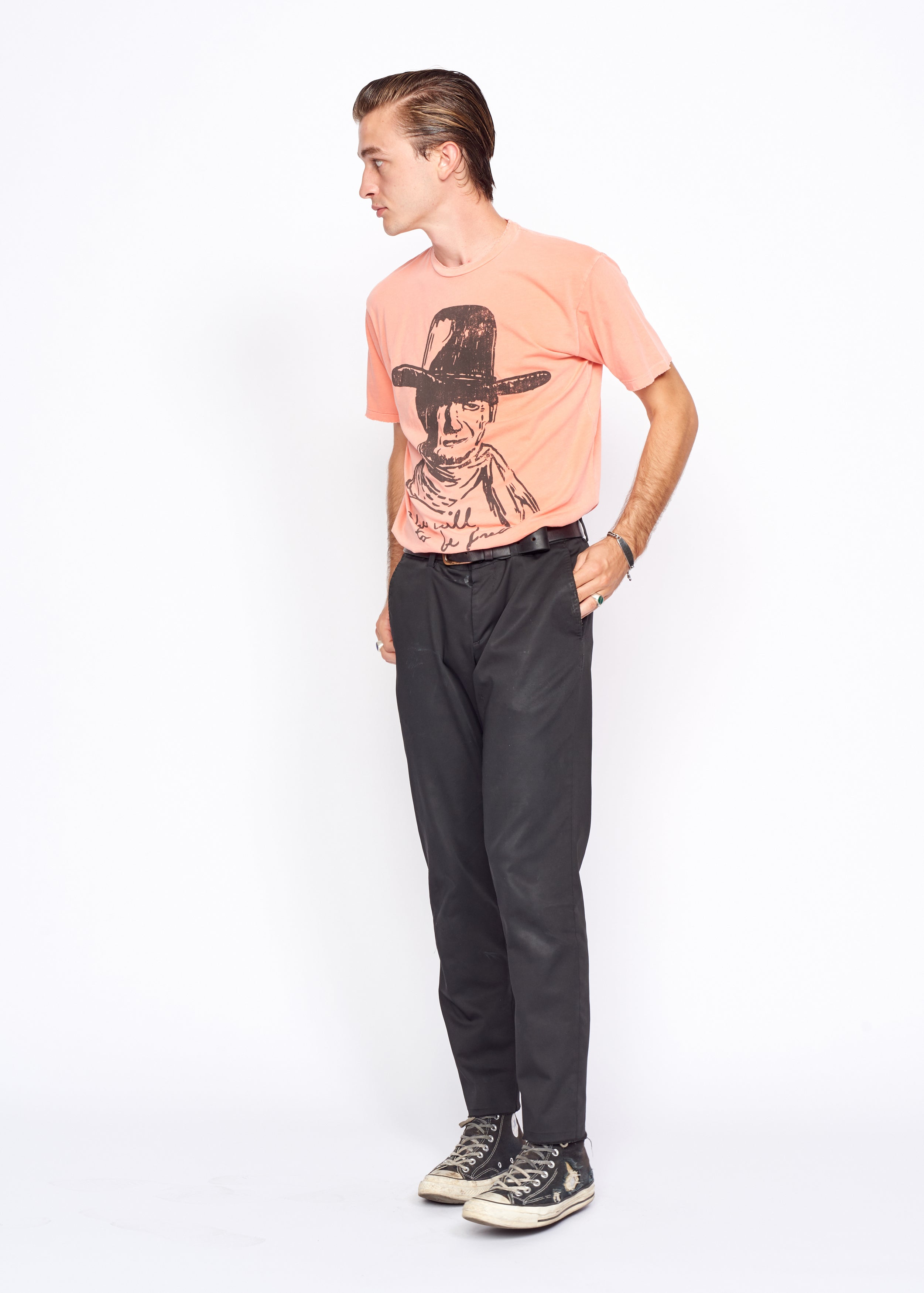 The Will To Be Free Men's Crew - Dahlia Pink
