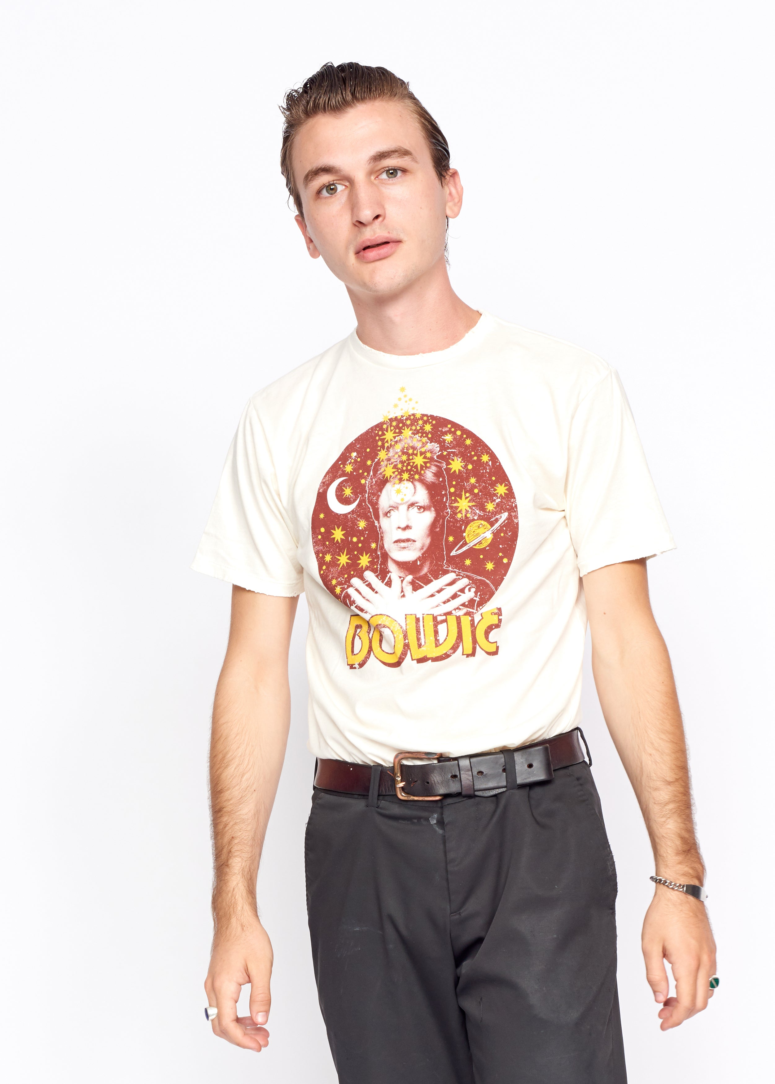 David Bowie Stardust Men's Tee Shirt - Men's Tee Shirt - Midnight Rider