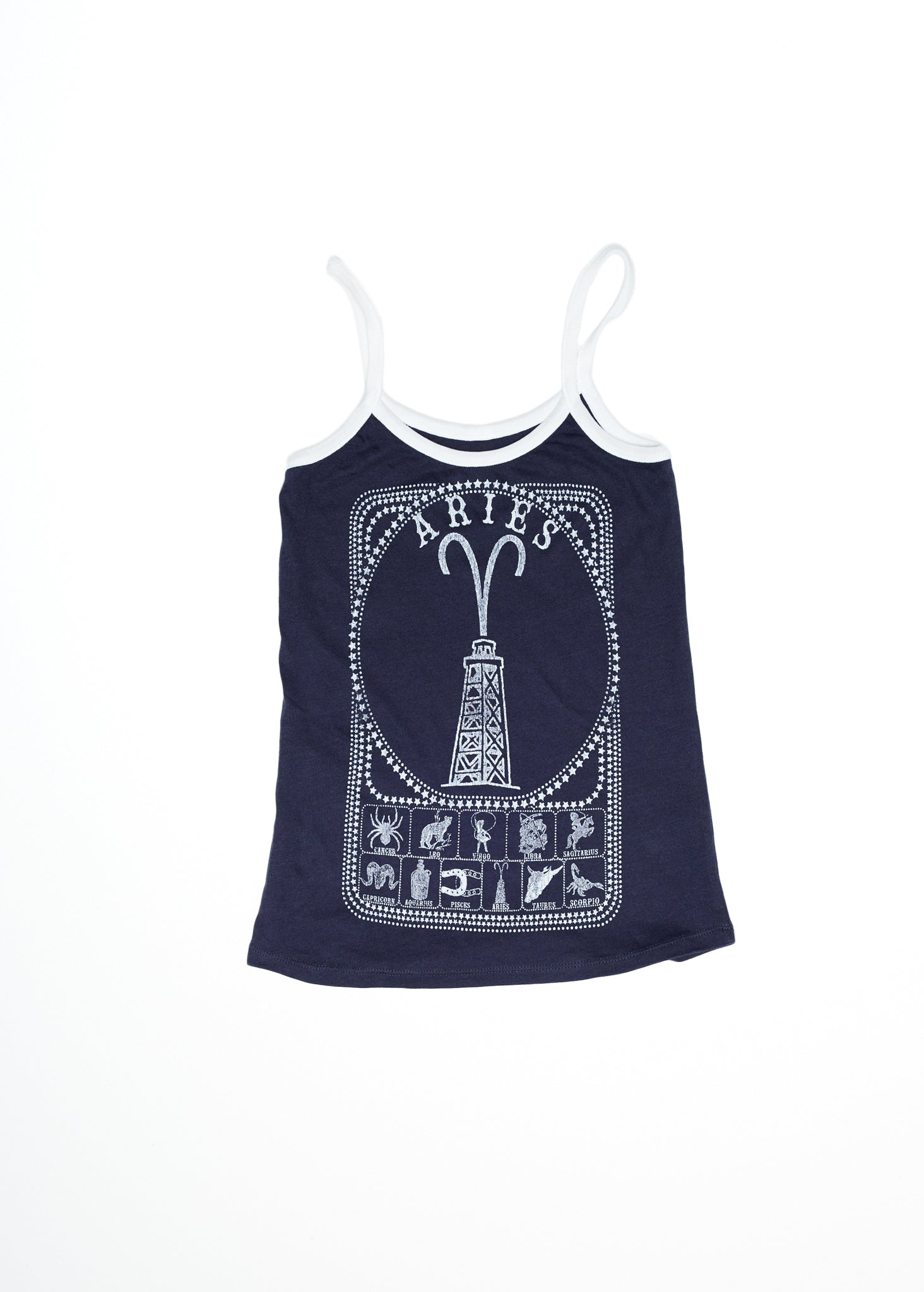 Aries Zodiac Contrast Tank - Women's Lace Tank - Midnight Rider