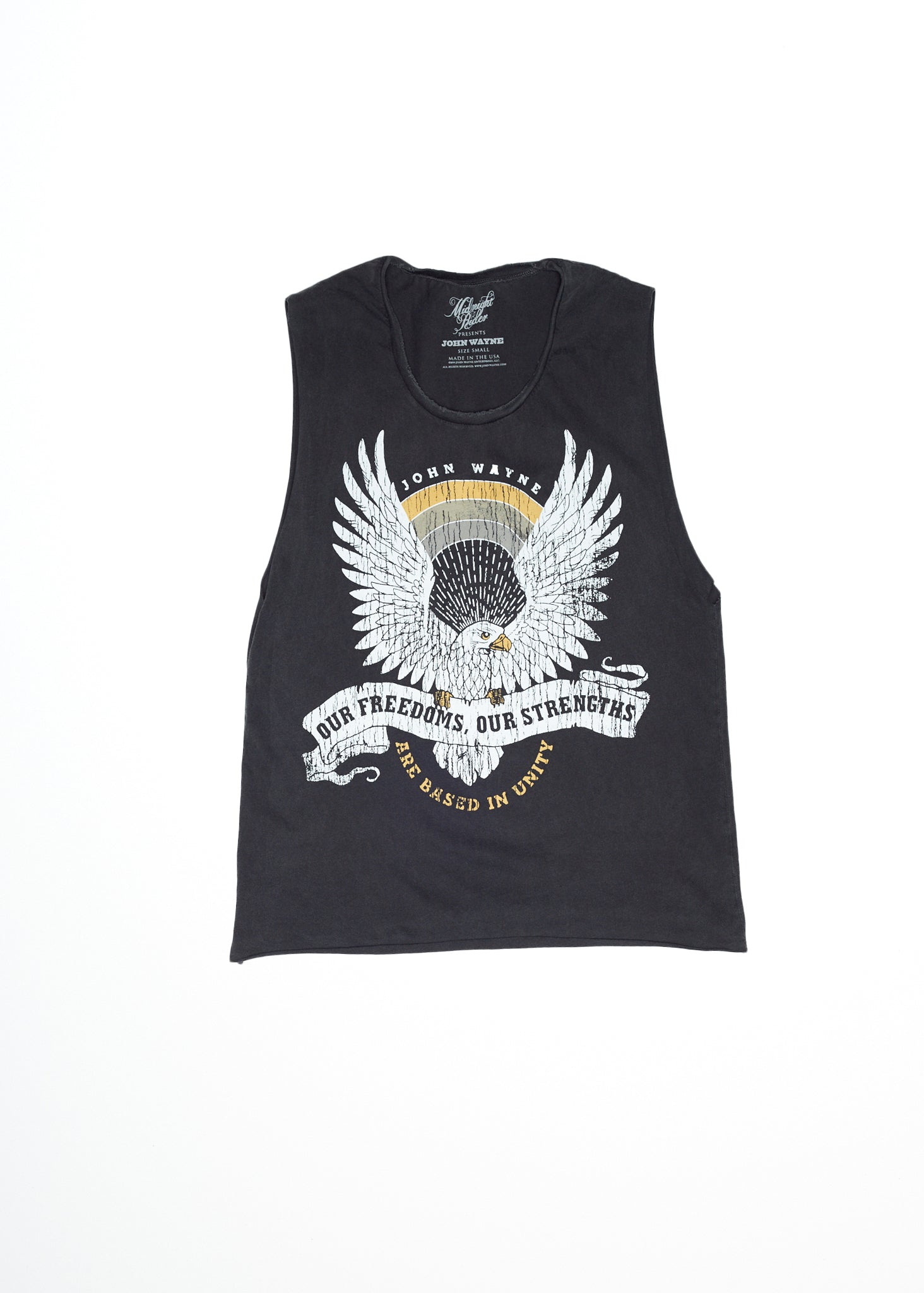 Our Freedoms John Wayne Muscle Tee - Vintage Black
