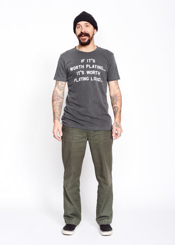 If It's Worth Playing It's Worth Playing Loud Men's Tee-Shirt - Men's Tee Shirt - Midnight Rider
