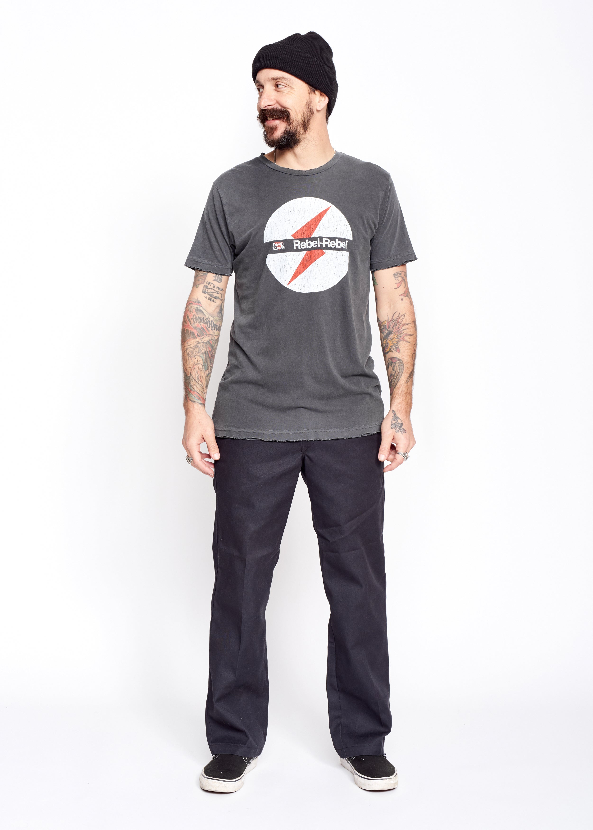 Rebel Rebel Men's Crew - Men's Tee Shirt - Midnight Rider