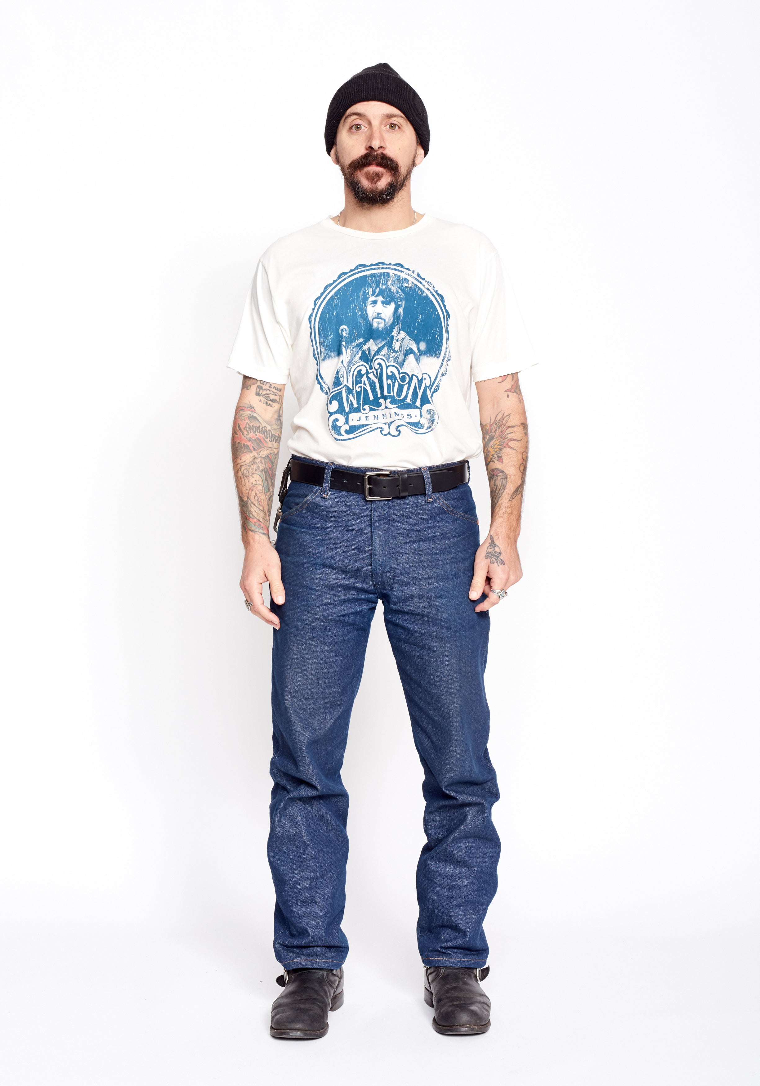 Waylon Photo Men's Crew - Blue Print