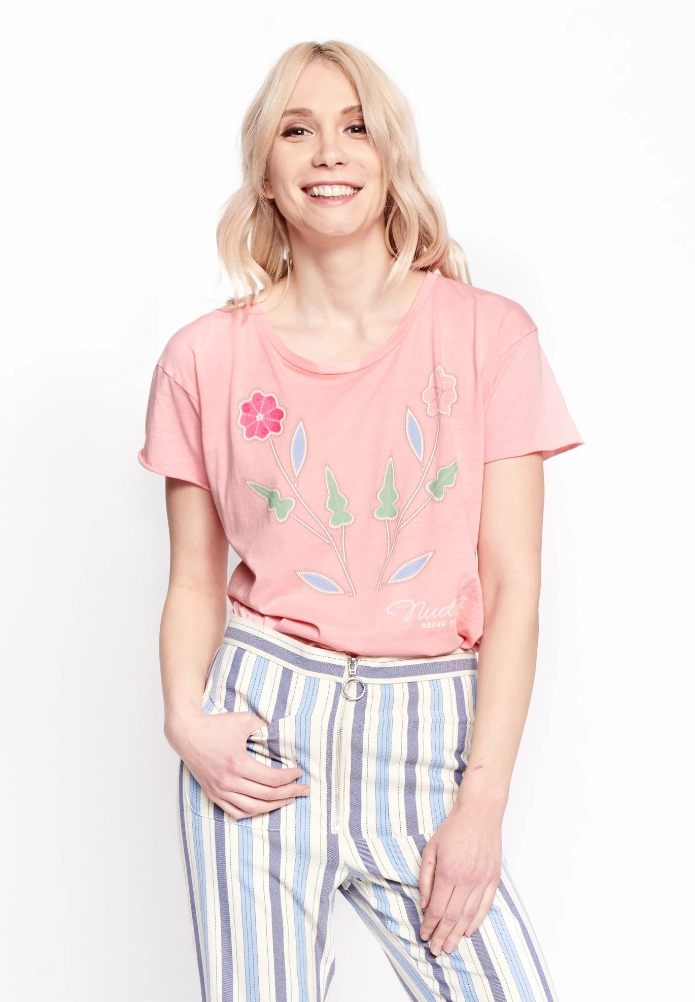 Nudie Floral Women's Cut-Off T-Shirt