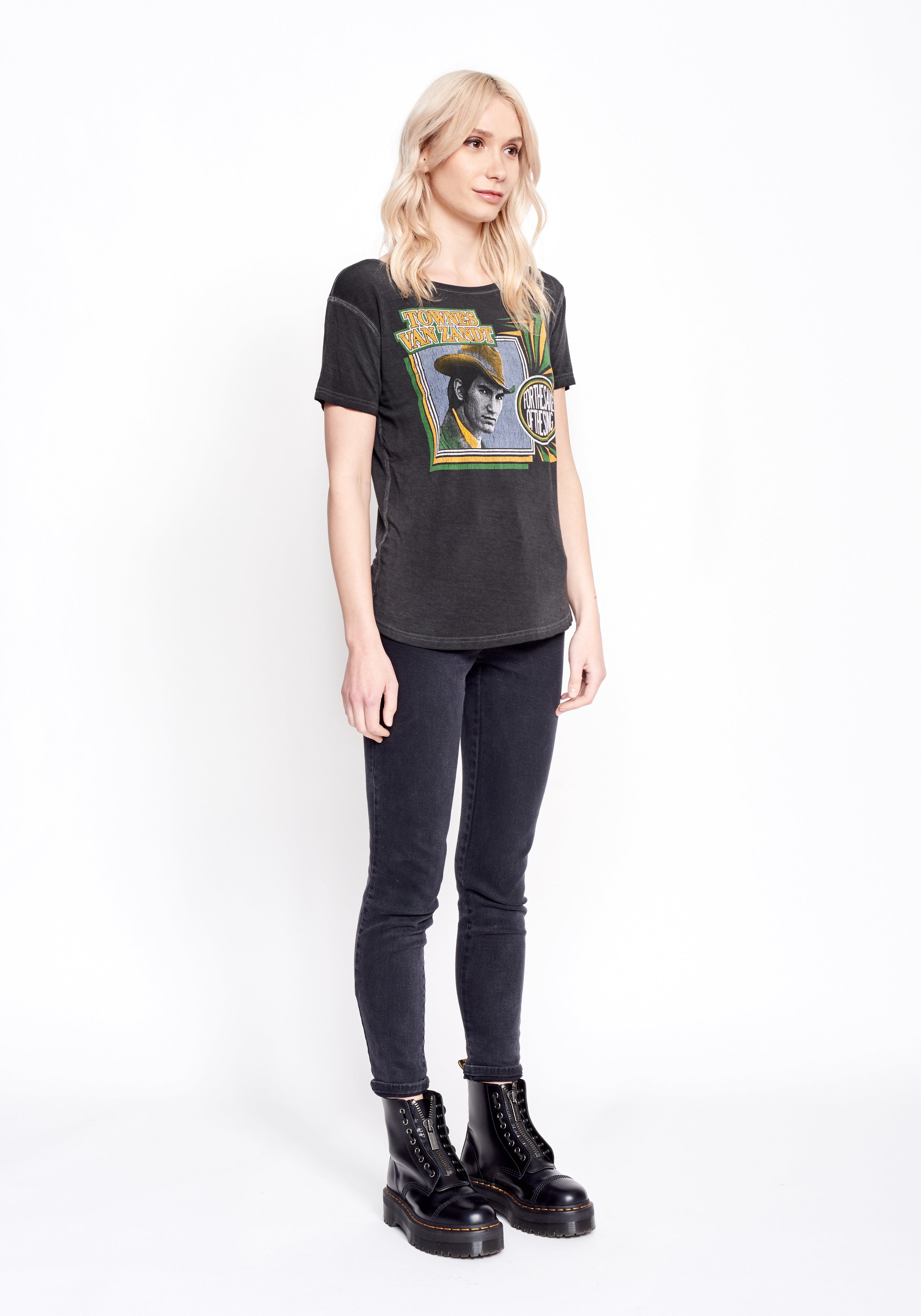 For the Sake of the Song Townes Van Zandt Women's Droptail Tee - Women's Tee Shirt - Midnight Rider
