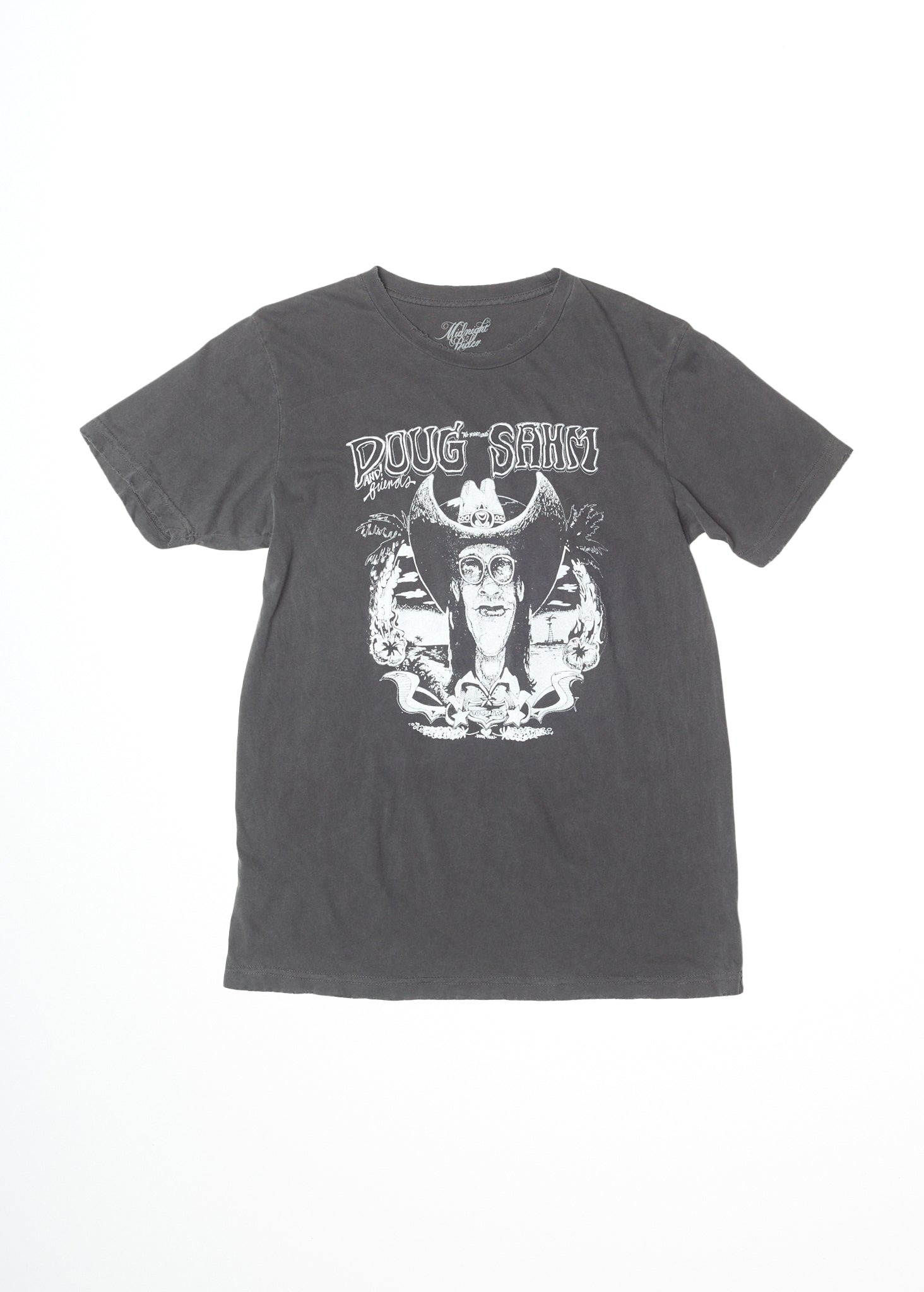 Doug Sahm & Friends Men's Crew Tee Shirt - Men's Tee Shirt - Midnight Rider