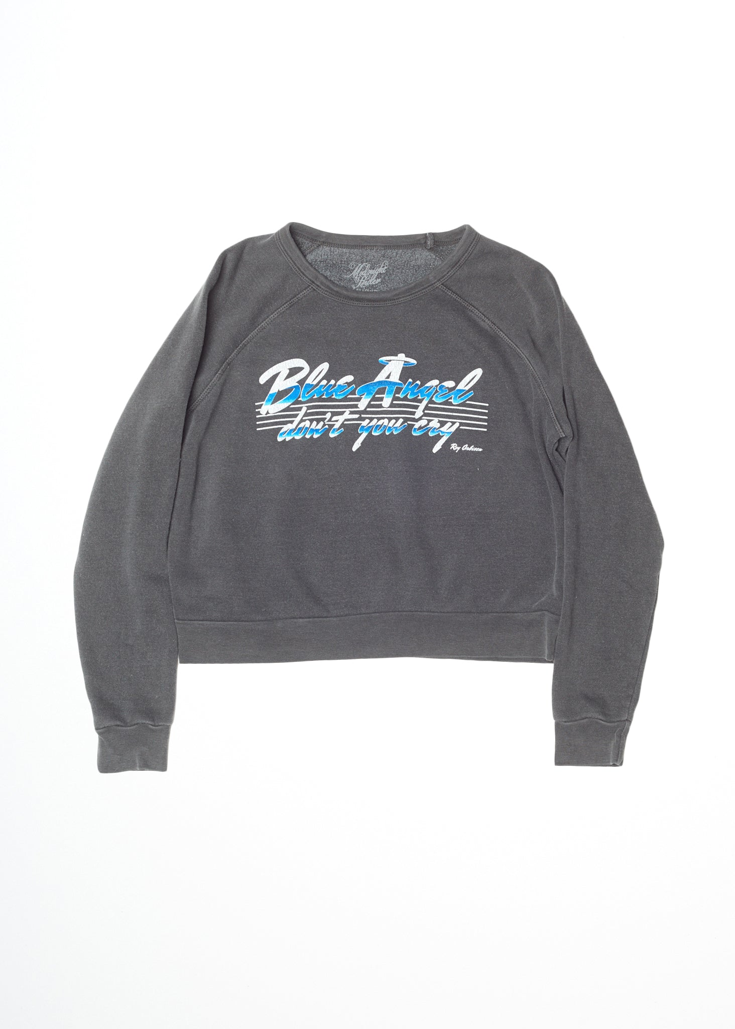 Blue Angel Roy Orbison Cropped Sweatshirt - Women's Sweatshirt - Midnight Rider