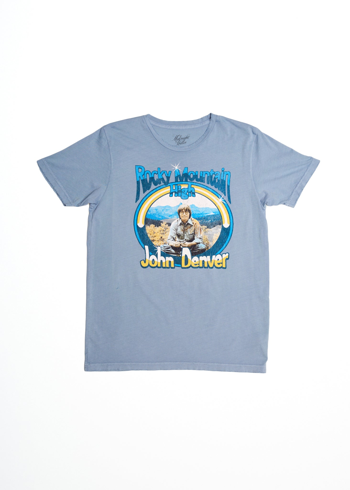 John Denver Rocky Mountain High Men's Tee Shirt - Denim Blue