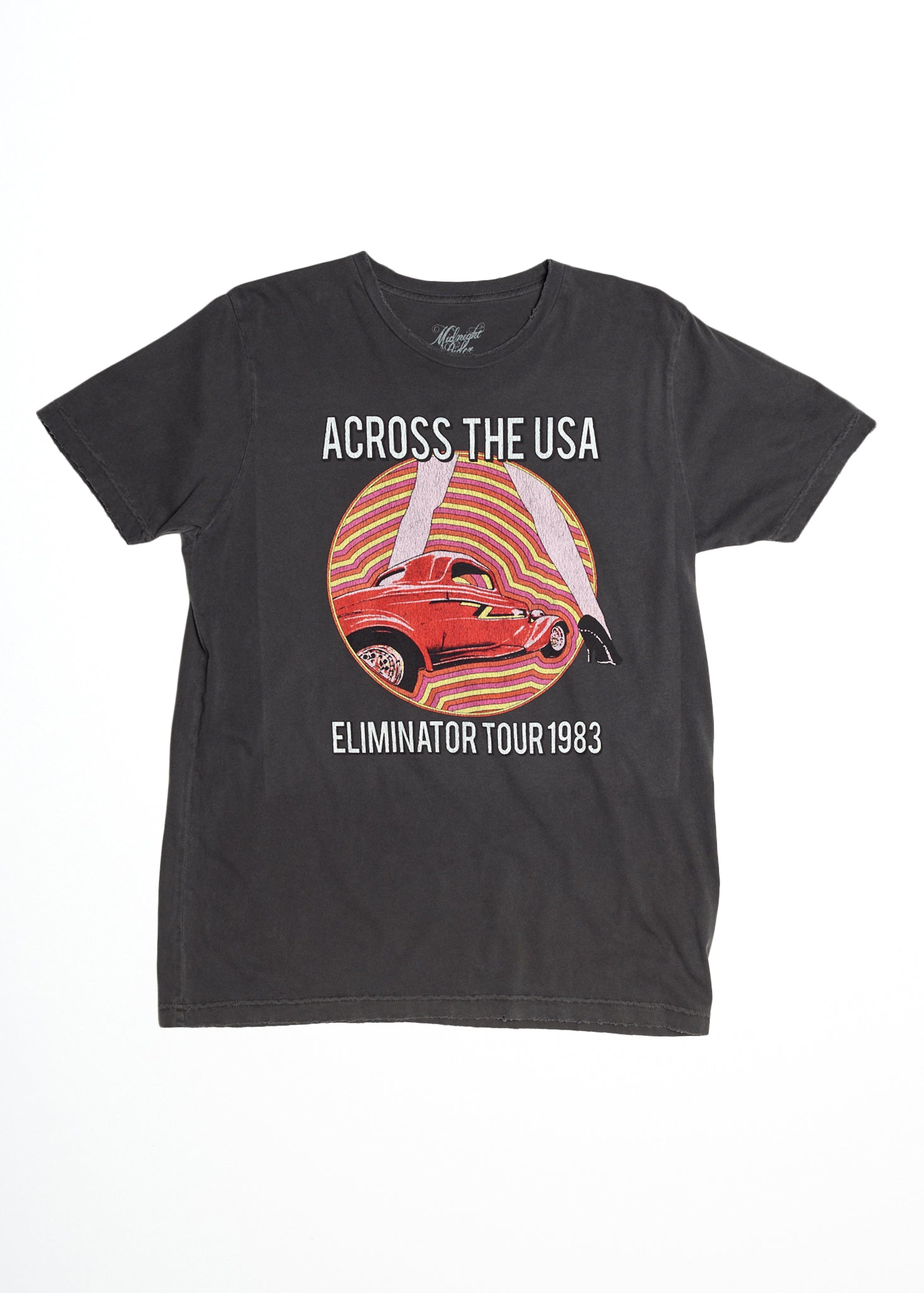 ZZ Top Eliminator Tour Men's Crew T-Shirt - Men's Tee Shirt - Midnight Rider