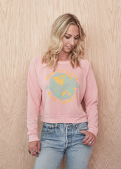 One Planet One People Cropped Sweatshirt